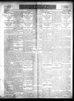 Primary view of object titled 'El Paso Daily Times (El Paso, Tex.), Vol. 25, Ed. 1 Thursday, September 21, 1905'.