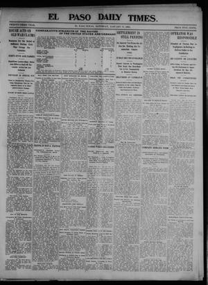 Primary view of object titled 'El Paso Daily Times. (El Paso, Tex.), Vol. 23, Ed. 1 Saturday, January 31, 1903'.