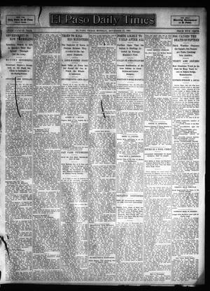 Primary view of object titled 'El Paso Daily Times (El Paso, Tex.), Vol. 25, Ed. 1 Monday, November 27, 1905'.