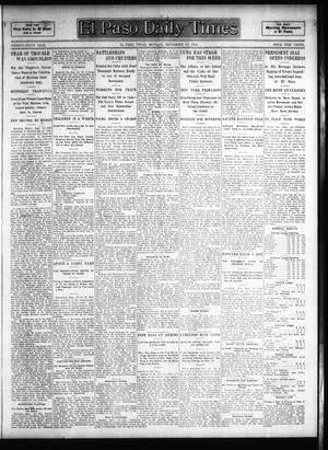 Primary view of object titled 'El Paso Daily Times (El Paso, Tex.), Vol. 26, Ed. 1 Monday, September 17, 1906'.