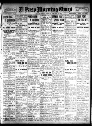 Primary view of object titled 'El Paso Morning Times (El Paso, Tex.), Vol. 32, Ed. 1 Monday, January 22, 1912'.