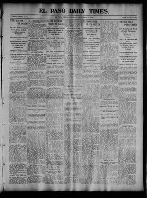 Primary view of object titled 'El Paso Daily Times. (El Paso, Tex.), Vol. 23, No. 121, Ed. 1 Saturday, September 12, 1903'.