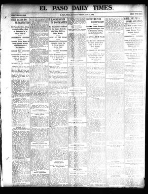 Primary view of object titled 'El Paso Daily Times. (El Paso, Tex.), Vol. 22, Ed. 1 Saturday, June 14, 1902'.