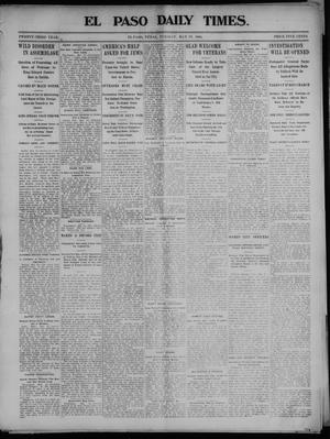 Primary view of object titled 'El Paso Daily Times. (El Paso, Tex.), Vol. 23, No. 5, Ed. 1 Tuesday, May 19, 1903'.