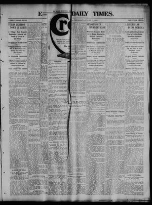 Primary view of object titled 'El Paso Daily Times. (El Paso, Tex.), Vol. 23, No. 91, Ed. 1 Thursday, August 13, 1903'.