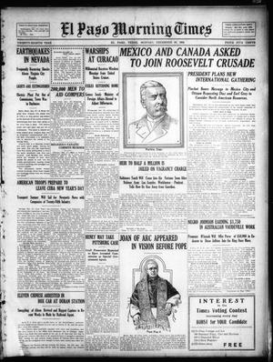 Primary view of object titled 'El Paso Morning Times (El Paso, Tex.), Vol. 28, Ed. 1 Monday, December 28, 1908'.