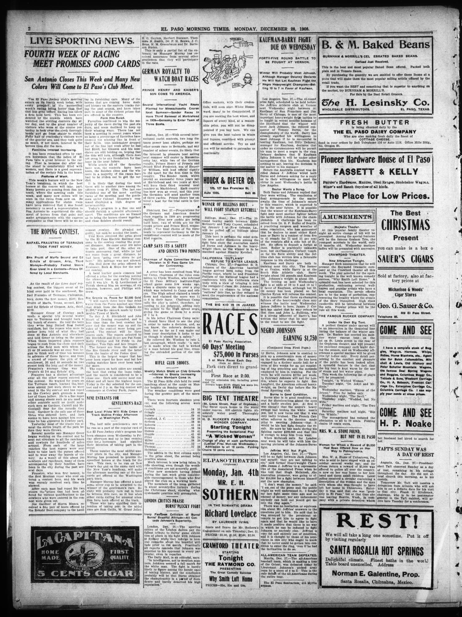 El Paso Morning Times (El Paso, Tex ), Vol  28, Ed  1 Monday