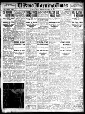Primary view of object titled 'El Paso Morning Times (El Paso, Tex.), Vol. 31, Ed. 1 Monday, October 30, 1911'.