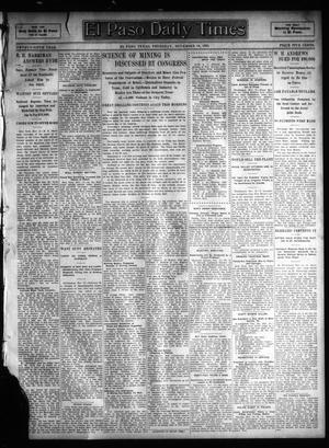 Primary view of object titled 'El Paso Daily Times (El Paso, Tex.), Vol. 25, Ed. 1 Thursday, November 16, 1905'.