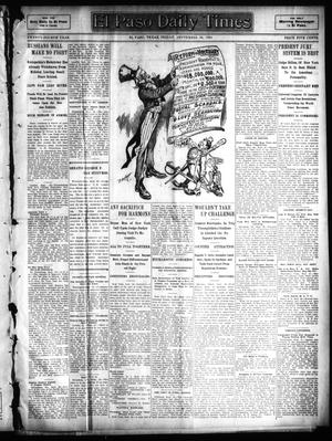 Primary view of object titled 'El Paso Daily Times (El Paso, Tex.), Vol. 24, Ed. 1 Friday, September 30, 1904'.