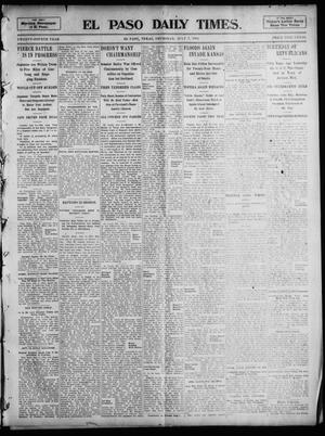 Primary view of object titled 'El Paso Daily Times. (El Paso, Tex.), Vol. 24, Ed. 1 Thursday, July 7, 1904'.