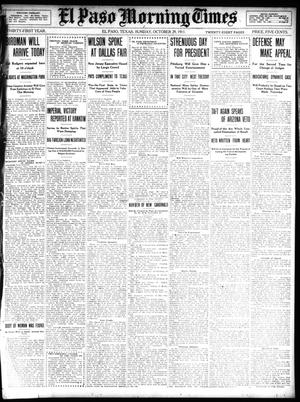 Primary view of object titled 'El Paso Morning Times (El Paso, Tex.), Vol. 31, Ed. 1 Sunday, October 29, 1911'.