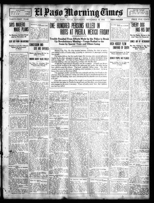 Primary view of object titled 'El Paso Morning Times (El Paso, Tex.), Vol. 31, Ed. 1 Saturday, November 19, 1910'.