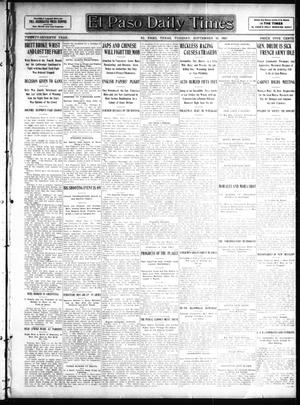 Primary view of object titled 'El Paso Daily Times (El Paso, Tex.), Vol. 27, Ed. 1 Tuesday, September 10, 1907'.