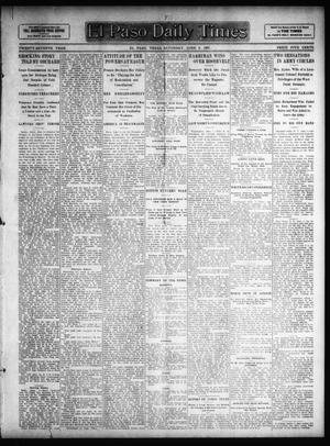 Primary view of object titled 'El Paso Daily Times (El Paso, Tex.), Vol. 27, Ed. 1 Saturday, June 8, 1907'.