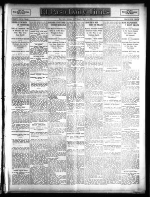 Primary view of object titled 'El Paso Daily Times (El Paso, Tex.), Vol. 25, Ed. 1 Saturday, May 13, 1905'.