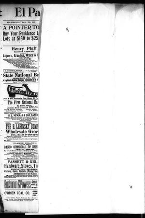Primary view of object titled 'El Paso International Daily Times (El Paso, Tex.), Vol. 19, No. 268, Ed. 1 Saturday, November 4, 1899'.
