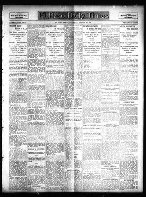 Primary view of object titled 'El Paso Daily Times (El Paso, Tex.), Vol. 25, Ed. 1 Saturday, August 26, 1905'.