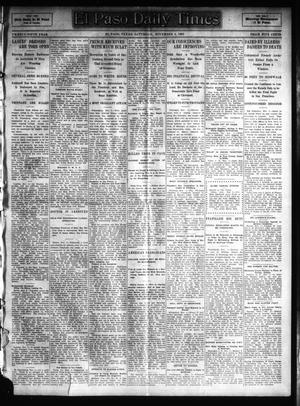 Primary view of object titled 'El Paso Daily Times (El Paso, Tex.), Vol. 25, Ed. 1 Saturday, November 4, 1905'.