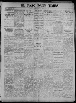 Primary view of object titled 'El Paso Daily Times. (El Paso, Tex.), Vol. 24, Ed. 1 Tuesday, January 19, 1904'.