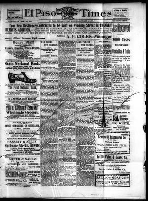 Primary view of object titled 'El Paso International Daily Times (El Paso, Tex.), Vol. 19, No. 239, Ed. 1 Sunday, October 1, 1899'.