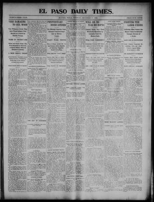Primary view of object titled 'El Paso Daily Times. (El Paso, Tex.), Vol. 23, Ed. 1 Tuesday, December 15, 1903'.