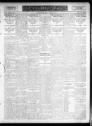 Primary view of object titled 'El Paso Daily Times (El Paso, Tex.), Vol. 26, Ed. 1 Friday, January 25, 1907'.