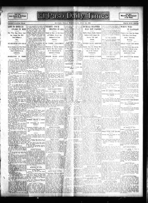 Primary view of object titled 'El Paso Daily Times (El Paso, Tex.), Vol. 25, Ed. 1 Wednesday, July 26, 1905'.