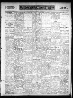 Primary view of object titled 'El Paso Daily Times (El Paso, Tex.), Vol. 26, Ed. 1 Tuesday, December 4, 1906'.
