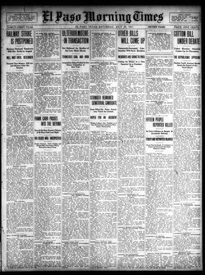 Primary view of object titled 'El Paso Morning Times (El Paso, Tex.), Vol. 31, Ed. 1 Saturday, July 29, 1911'.