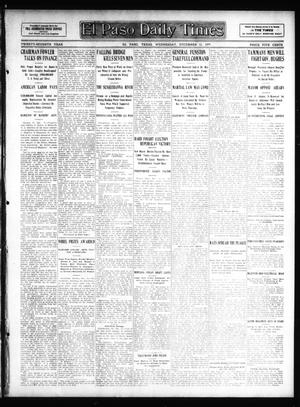Primary view of object titled 'El Paso Daily Times (El Paso, Tex.), Vol. 27, Ed. 1 Wednesday, December 11, 1907'.