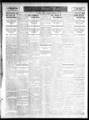 Primary view of object titled 'El Paso Daily Times (El Paso, Tex.), Vol. 27, Ed. 1 Tuesday, December 10, 1907'.