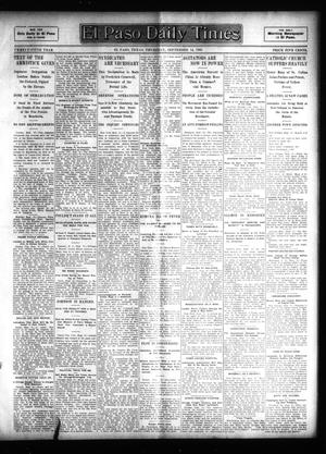 Primary view of object titled 'El Paso Daily Times (El Paso, Tex.), Vol. 25, Ed. 1 Thursday, September 14, 1905'.