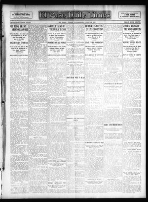 Primary view of object titled 'El Paso Daily Times (El Paso, Tex.), Vol. 27, Ed. 1 Wednesday, June 19, 1907'.