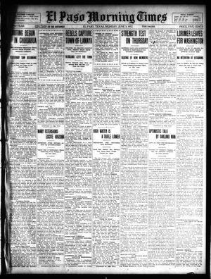 Primary view of object titled 'El Paso Morning Times (El Paso, Tex.), Vol. 32, Ed. 1 Monday, June 3, 1912'.