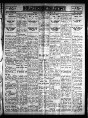 Primary view of object titled 'El Paso Daily Times (El Paso, Tex.), Vol. 25, Ed. 1 Saturday, January 14, 1905'.
