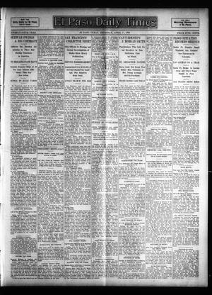 Primary view of object titled 'El Paso Daily Times (El Paso, Tex.), Vol. 25, Ed. 1 Thursday, April 27, 1905'.