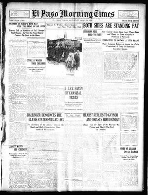 Primary view of object titled 'El Paso Morning Times (El Paso, Tex.), Vol. 30, Ed. 1 Saturday, April 30, 1910'.