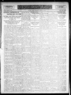 Primary view of object titled 'El Paso Daily Times (El Paso, Tex.), Vol. 26, Ed. 1 Wednesday, January 16, 1907'.