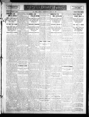Primary view of object titled 'El Paso Daily Times (El Paso, Tex.), Vol. 28, Ed. 1 Wednesday, July 15, 1908'.