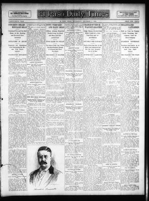 Primary view of object titled 'El Paso Daily Times (El Paso, Tex.), Vol. 26, Ed. 1 Wednesday, December 5, 1906'.