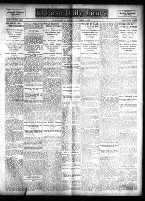 Primary view of object titled 'El Paso Daily Times (El Paso, Tex.), Vol. 25, Ed. 1 Monday, September 4, 1905'.