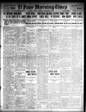 Primary view of object titled 'El Paso Morning Times (El Paso, Tex.), Vol. 32, Ed. 1 Monday, December 16, 1912'.