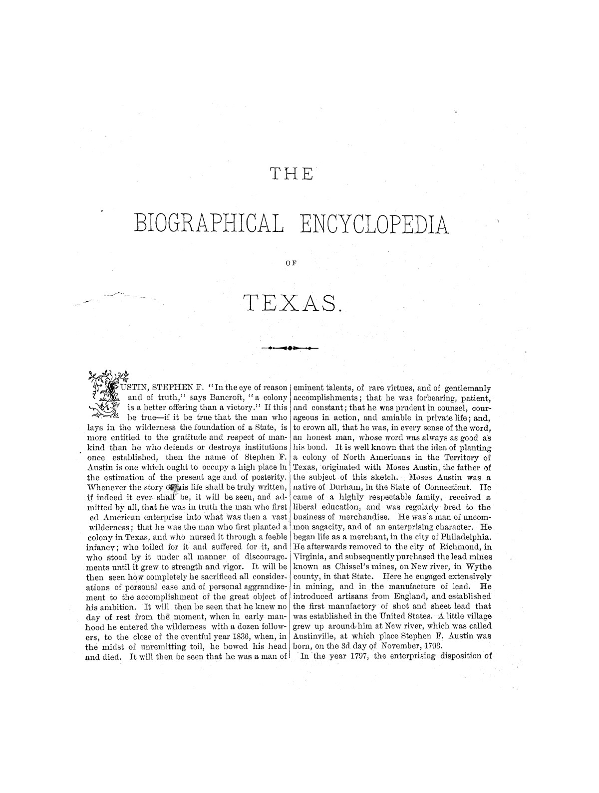 Biographical Encyclopedia of Texas                                                                                                      [Sequence #]: 5 of 372