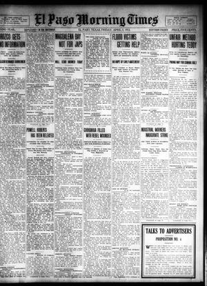 Primary view of object titled 'El Paso Morning Times (El Paso, Tex.), Vol. 32, Ed. 1 Friday, April 5, 1912'.