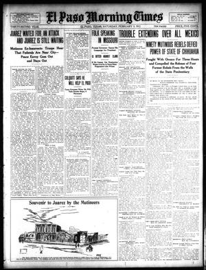 Primary view of object titled 'El Paso Morning Times (El Paso, Tex.), Vol. 32, Ed. 1 Saturday, February 3, 1912'.
