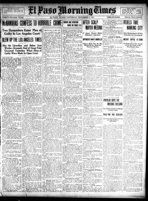 Primary view of object titled 'El Paso Morning Times (El Paso, Tex.), Vol. 32, Ed. 1 Saturday, December 2, 1911'.