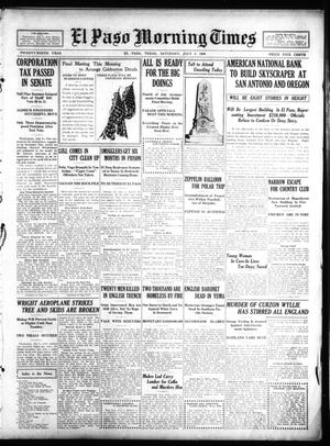 Primary view of object titled 'El Paso Morning Times (El Paso, Tex.), Vol. 29, Ed. 1 Saturday, July 3, 1909'.
