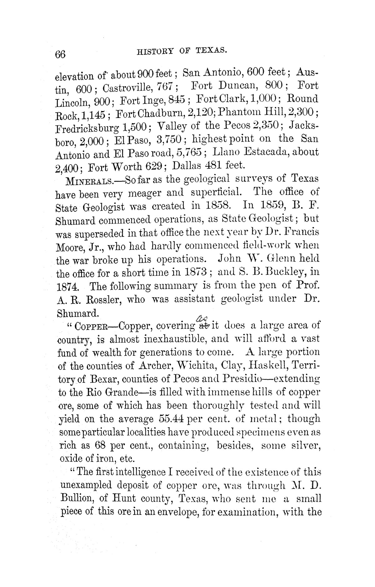 A pictorial history of Texas, from the earliest visits of European adventurers, to A.D. 1879. Embracing the periods of missions, colonization, the revolution the republic, and the state; also, a topographical description of the country ... together with its Indian tribes and their wars, and biographical sketches of hundreds of its leading historical characters. Also, a list of the countries, with historical and topical notes, and descriptions of the public institutions of the state.                                                                                                      [Sequence #]: 72 of 859