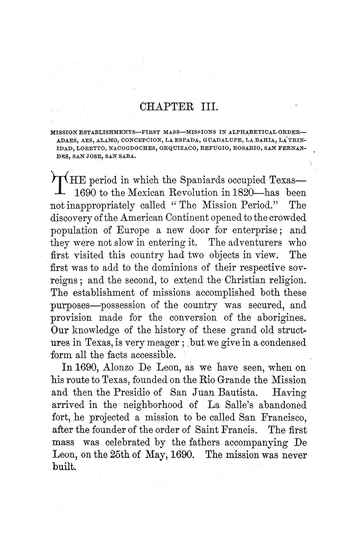 A pictorial history of Texas, from the earliest visits of European adventurers, to A.D. 1879. Embracing the periods of missions, colonization, the revolution the republic, and the state; also, a topographical description of the country ... together with its Indian tribes and their wars, and biographical sketches of hundreds of its leading historical characters. Also, a list of the countries, with historical and topical notes, and descriptions of the public institutions of the state.                                                                                                      [Sequence #]: 98 of 859